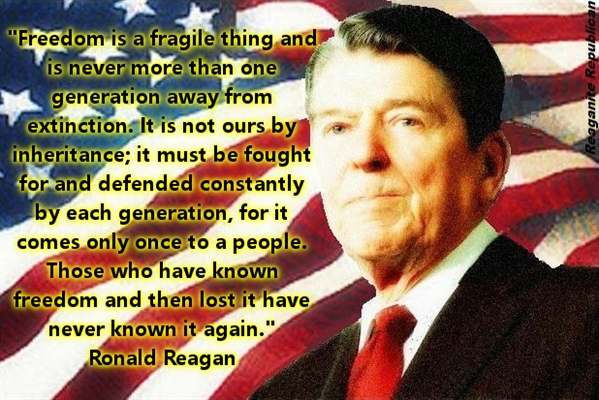 Reagan One Generation Away From Extinction