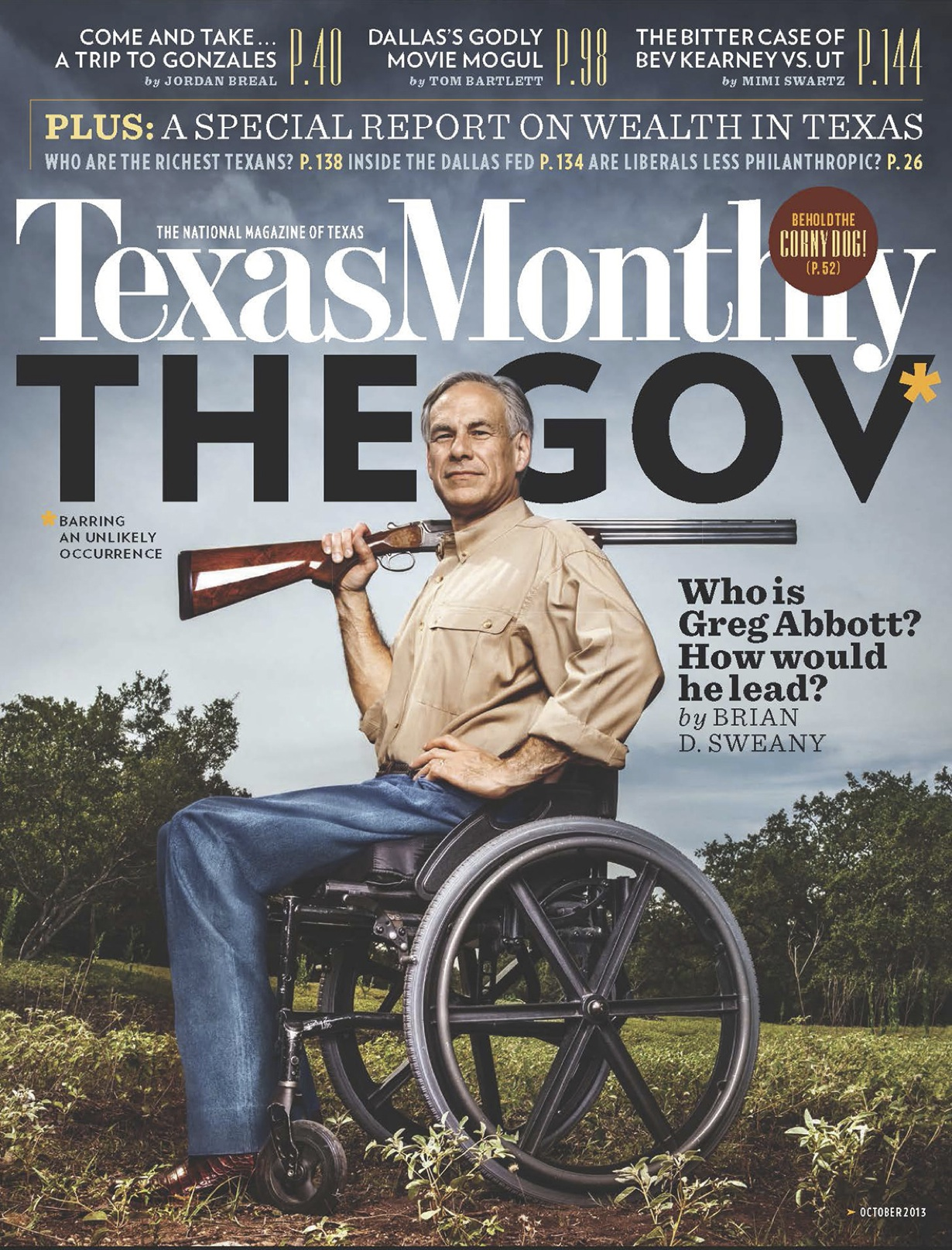Texas Monthly October Cover