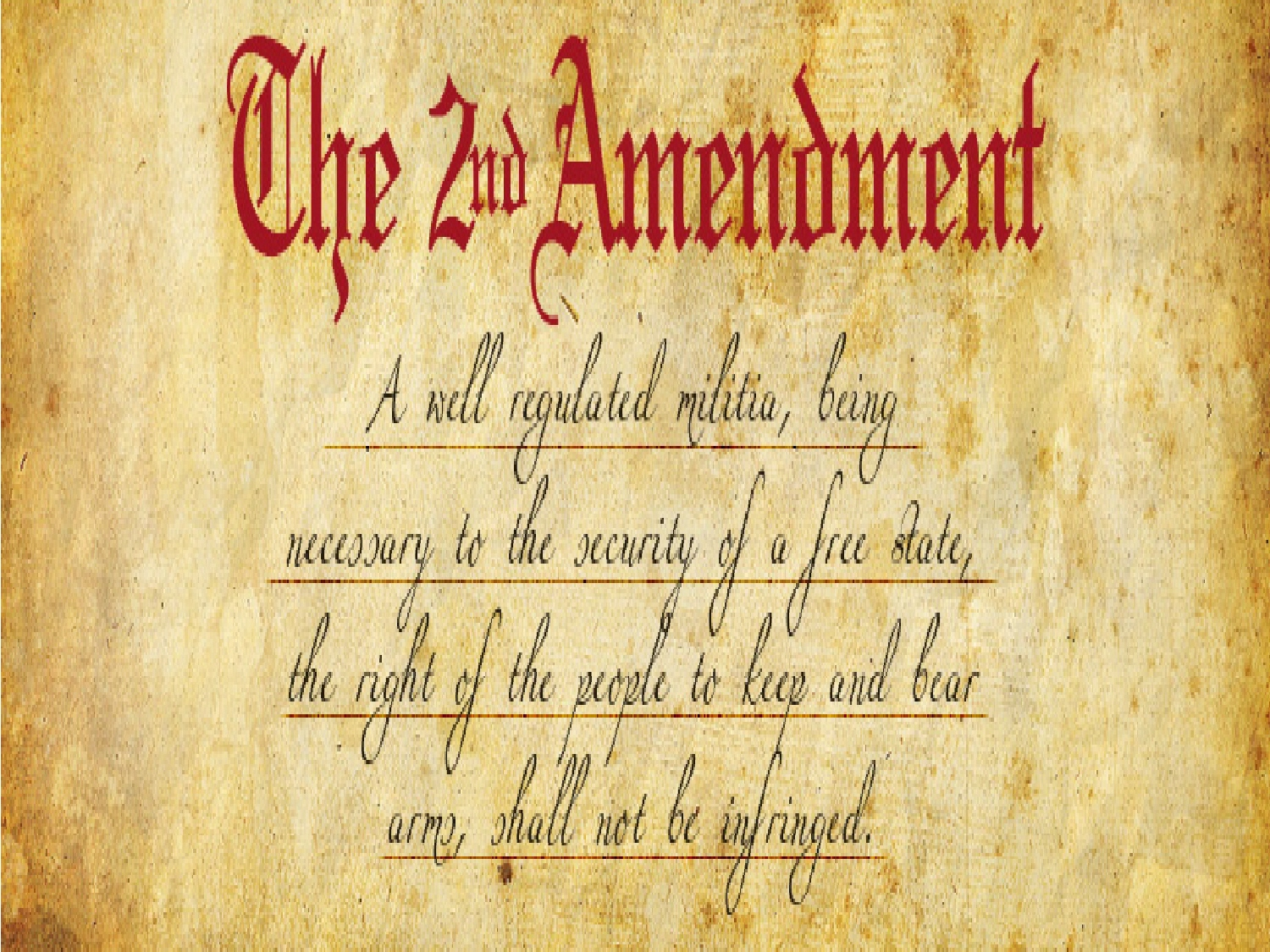 second amendment of the constit 2