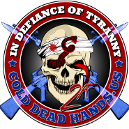 cold dead hands logo decal