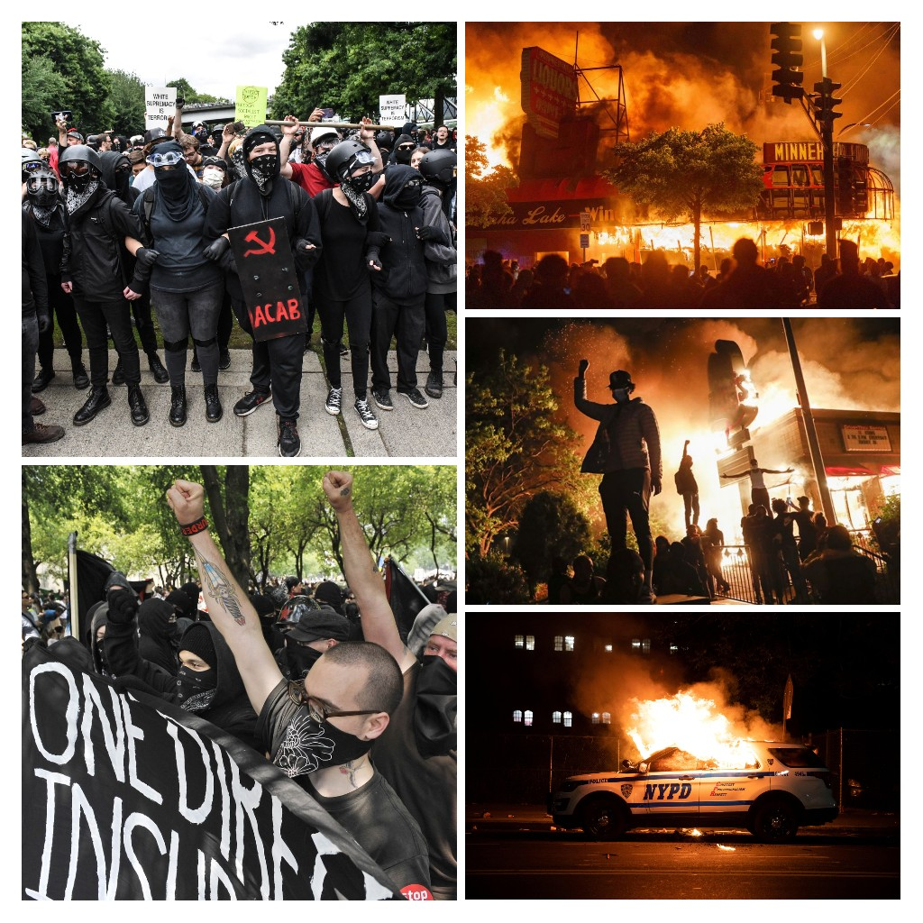 "Images from past protests and riots, some from 2020 and some as far back as 2012. Where was the Insurrection Impeachment Imperative then? *Note: the banner in the bottom left photo (from 2012) reads ""One Direction - Insurrection"" carried by ""Black Bloc"" demonstrators."